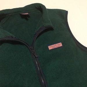 [Vineyard Vines] Dark Green Fleece Vest